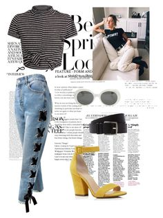 """""""Jenna Joseph Inspired Spring Birthday Party Outfit"""" by brxxlyn on Polyvore featuring H&M, Sans Souci, Hermès, Botkier, Yves Saint Laurent and Spring"""