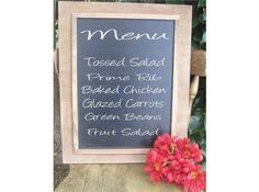 Rustic Wedding DIY Chalkboard sign Menu Large 16x20 Decoration Personalized Country Photo Prop Messages, $38.00