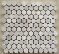 Ivy Hill Tile Mirage Penny Round White and Gray in. x 8 mm Marble and Glass Wall Mosaic - The Home Depot Stone Mosaic, Mirrored Glass, Round Tiles, Penny Round Tiles, Glass Collection, Mosaic Tiles, Glass Mosaic Tiles, Mosaic, Ceramic Mosaic Tile