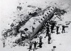 Survivors of the 1972 Andes disaster being found 72 days after their plane had crashed and all passengers were presumed killed by the impact or the harsh conditions of the mountains