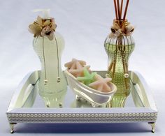 Kit Lavabo Brisa do Mar Murano, Perfume, Girly Girl, Decoupage, Projects To Try, Soap, The Incredibles, Bottle, Gifts