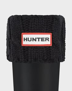 Black Size LG Original Six-Stitch Cable Boot Socks