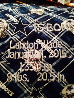Dallas Cowboys baby blanket by DoubleSEmbroidery on Etsy
