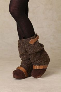 Irregular Choice Longer Lashes Clog Boot.  Oh My, are these ever cute.  The leg warmer is already built into the boot.  Adorable & Cozy!
