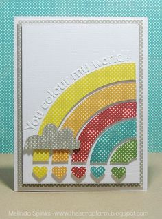 so many variations of the rainbow cards; i can never get enough. adorable.