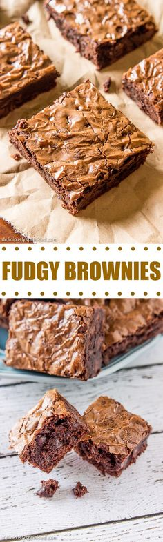 Fudgy Brownies- the best way to make brownies from a box that taste like homemade!