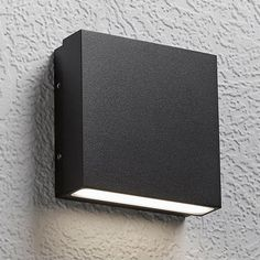 Alume Wall Sconce by LumenArt - Color: Black - Finish: Black - BK) Modern Wall Lights, Modern Wall Sconces, Modern Lighting, Ring Shapes, Diffused Light, Outdoor Walls, Minimalist Design, Light Up, Lenses