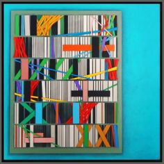 "Saatchi Art Artist Luciano de Liberato; Painting, ""White code, page 9"" #art"