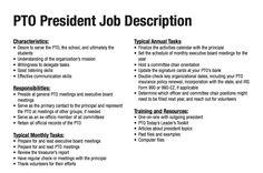 Job description for a parent group vice president.  #pto #pta