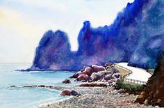 울릉도 story 53.0 x 40.9cm watercolor dn ppaper watercolor by Jung in sung