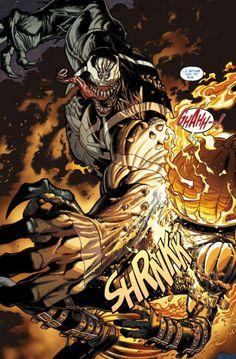 Venom vs. Jack O'Lantern in Venom #12 #comic #Marvel . For more images follow pyra2elcapo