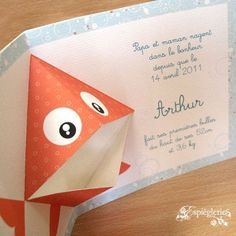 Faire-part poisson naissance mer 01