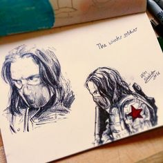 """shalidasillustrations: """" some winter soldier sketches bc I'm still not over catws """""""