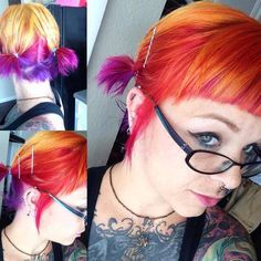drag to resize or shift+drag to move Dye My Hair, Cheveux Oranges, Extreme Hair Colors, Corset, Unnatural Hair Color, Sunset Hair, Fire Hair, Bright Hair Colors, Punk