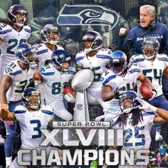 Seattle Seahawks Super Bowl XLVIII Champions 2014!!