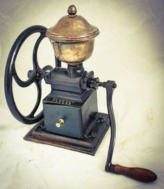 Antique c 1898 Philadelphia Enterprise coffee grinder mill 2 wheel cast iron Coffee Is Life, Coffee Shop, Coffee Maker, Coffee Lovers, Coffee Club, Coffee Time, Coffee Facts, Coffee Signs, Coffee Quotes
