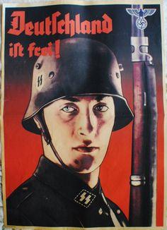 """WWII German """"Deutschland ist frei"""" poster"""