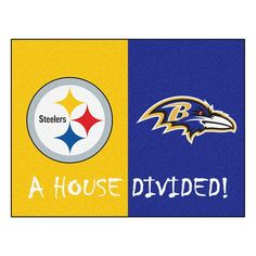 Pittsburgh Steelers-Baltimore Ravens NFL House Divided NFL All-Star Floor Mat (34x45)