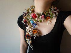 Lonicera xylosteum ... Freeform Crochet Scarflette by irregular expressions, via Flickr