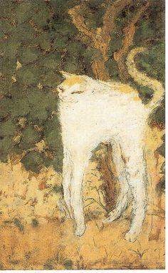 Les Nabis : Pierre Bonnard - Le chat blanc (1894)