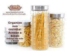 Venha organizar a despensa! Potes e Porta-mantimentos! www.lojasbibeli.com.br/potes-porta-mantimentos