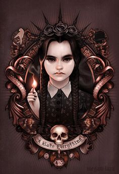 Wednesday Addams T-Shirt by Megan Lara. I Hate Everything is a t-shirt for fans of the Addams Family and Wednesday Addams in particular. Halloween Illustration, Illustration Art, Arte Horror, Horror Art, Die Addams Family, Addams Family Tattoo, Bad Trip, Dark Romance, Estilo Tim Burton
