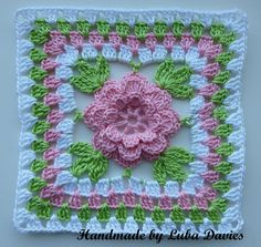 Ravelry: Flower in granny square pattern by Crochet- atelier. Free Pattern