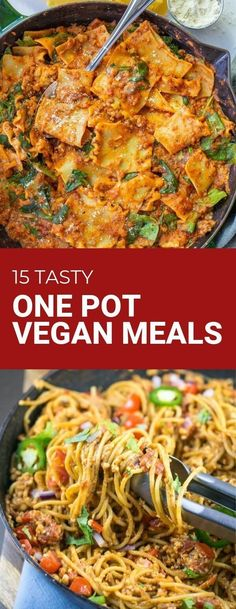 15 Tasty One Pot Vegan Meals from Bad to the Bowl! We love easy one pot meals and this features top recipes from vegan b Easy Vegan Dinner, Vegan Dinner Recipes, Vegan Recipes Easy, Easy Vegan Food, Tasty Vegan Recipes, Easy Plant Based Recipes, Simple Vegan Meals, Healthy Vegan Meals, Vegan Comfort Food
