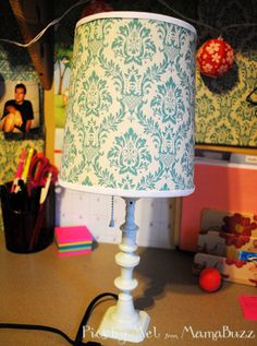 Easy Lamp Makeover. This cute lamp used to an old brown blah lamp.
