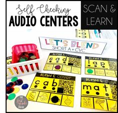 These self-checking CVC audio activities are PERFECT for independent use in the K-1 classroom!  Each activity includes a QR code students can scan and listen to the word on the card being read aloud.  This allows for students to self-check their own work without the help of the teacher AND practice their work correctly.  This resource also includes an audio assessment as well as a digital lesson!