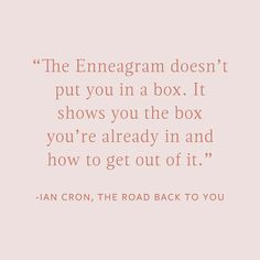 "And this is why we love the Enneagram! The Enneagram doesn't just say ""congratulations, here's your personality type!"" it says ""okay, so…"