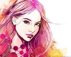 Illustration of beauty by Anna Ulyashina, via Behance