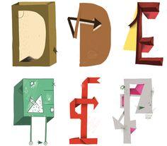 Mike Okay & Otto Baum - Comic Suns alphabet (D E F)
