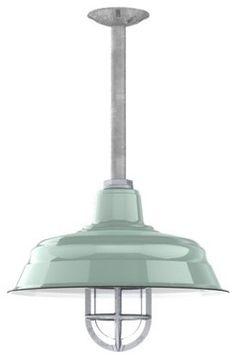Benjamin® Bomber Porcelain Stem Light  pendant lighting