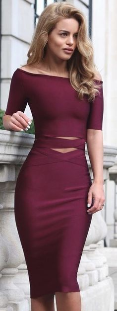#summer #popular #outfits | Burgundy + Cross Over
