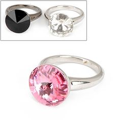 Exquisite Elegant Fashion Decorated With Zircon Design Rings (Can choose size 16#,17#,18#,19#) (Color Will Be Random)