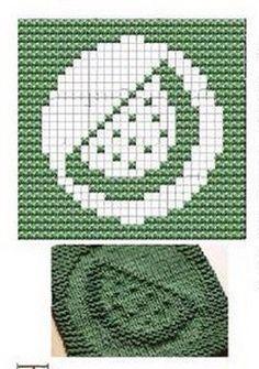 Watermelon Knit Dishcloths Pattern