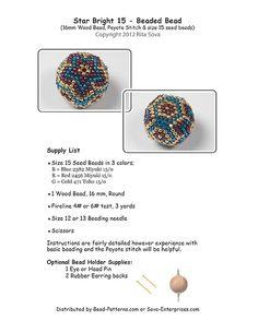 Star Bright 15 Beaded Bead Pattern | Bead-Patterns.com