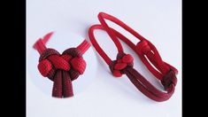 "How to Tie a Heart Shaped Knot/How to Make a Paracord ""Valentine's Day"" ..."