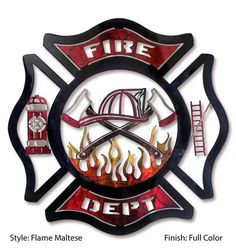 Fire Department Maltese - Handcrafted, American made! Firefighter Images, Maltese Cross Firefighter, Firefighter Home Decor, Firefighter Decals, Firefighter Gifts, Firefighter Clipart, Fire Dept, Fire Department, Fire Crafts
