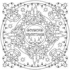Image result for free coloring book winter