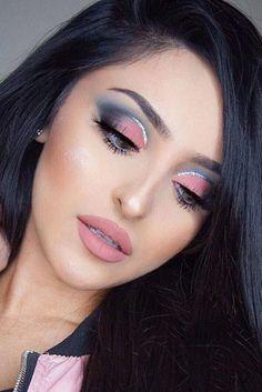 57 Wonderful Prom Makeup Ideas – Number 16 Is Absolutely Stunning - Top MakeUp Trends 2020 Eye Makeup Art, Smokey Eye Makeup, Glam Makeup, Eyeshadow Makeup, Eyeshadow Palette, Makeup Geek, Makeup Brushes, Nyx Eyeliner, Pink Eyeshadow