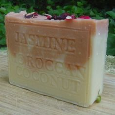 """#Jasmine Moroccan Clay Organic Coconut Milk #Beauty #Soap  This particular Soap Jasmine """"Grand"""" absolute (also known as """"Royal"""" Jasmine) is one of the nicest we've ever had the opportunity to enjoy. .Jasmine grandiflorum flowers grown in India - also known as 'Royal' Jasmine."""