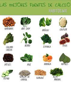 Las mejores fuentes de calcio vegetales! :))
