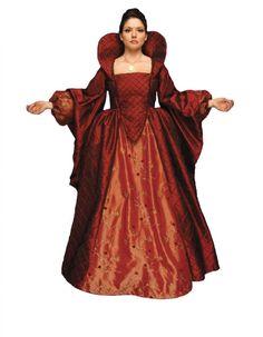 Ladies Medieval Tudor Queen Elizabeth 1 Costume Image