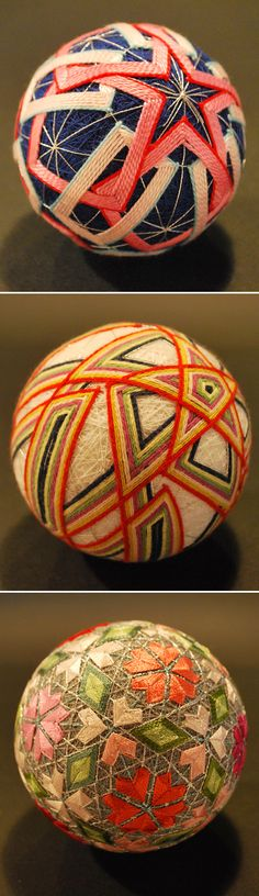 Temari balls are highly valued and cherished gifts, symbolizing deep friendship and loyalty. Textiles, Arts And Crafts, Diy Crafts, Home And Deco, String Art, Fabric Art, Japanese Art, Textures Patterns, Kitsch