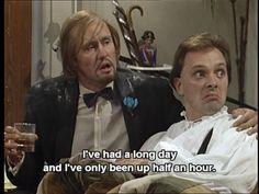 Filthy, Rich, and Catflap British Humor, British Comedy, Filthy Rich And Catflap, Tv Quotes, Funny Quotes, Just Lyrics, Rik Mayall, Comedy Duos, Great Comedies