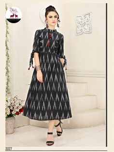 Textile Mart Wholesaler & Exporter of Branded Catalogs Surat Printed Kurti Designs, Simple Kurti Designs, Kurta Designs Women, Fancy Blouse Designs, Salwar Designs, Dress Designs, Sleeve Designs, Kalamkari Dresses, Ikkat Dresses