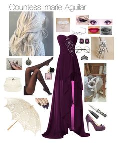 """""""Countess Imarie Aguilar"""" by kitty-lm ❤ liked on Polyvore featuring SPANX, Fit-to-Kill, Dolce&Gabbana, Universal Lighting and Decor, Christian Louboutin, Mawi and Victoria's Secret"""