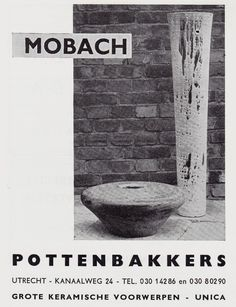 1965, advertisement for Mobach pottery..